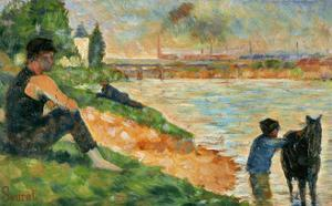 Etude pour une baignade by Georges Seurat