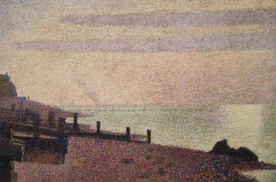 Evening, Honfleur by Georges Seurat