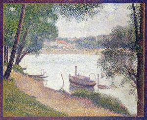 Gray Weather, Grand Jatte by Georges Seurat