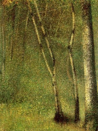 In the Forest at Pontaubert by Georges Seurat
