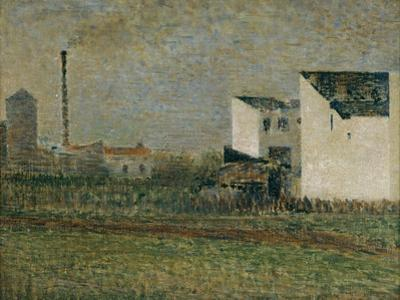 La banlieu-suburbs by Georges Seurat