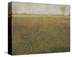 La Luzerne, Saint-Denis, 1885 by Georges Seurat