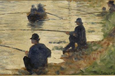 Les pêcheurs à la ligne, étude pour le Grande Jatte