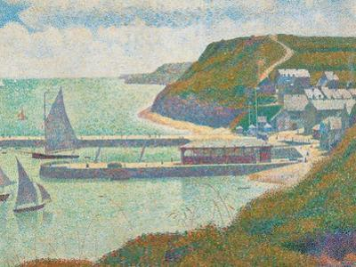 Port and Dock Calvados by Georges Seurat