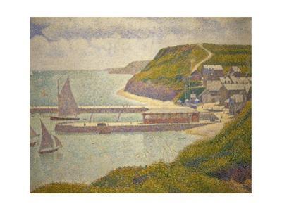 Port-en-Bessin, avant-port, haute maree. Oil on canvas (1888) 67 x 82 cm R.F. 1952-1. by Georges Seurat