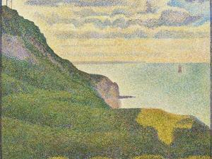 Seascape at Port-En-Bessin, Normandy, 1888 by Georges Seurat