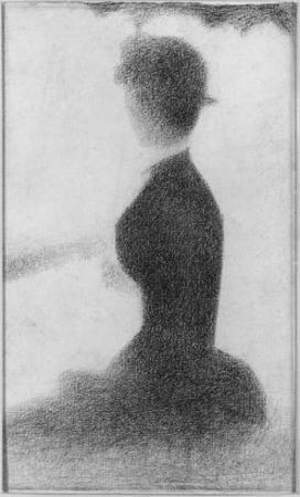 Seated Woman with a Parasol (study, La Grande Jatte) by Georges Seurat