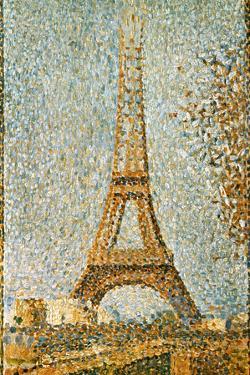 Seurat: Eiffel Tower, 1889 by Georges Seurat