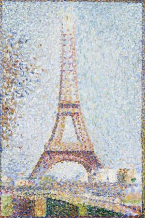 The Eiffel Tower, 1889 by Georges Seurat
