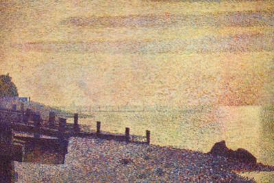 Georges Seurat The Mouth of the Seine at Honfleur, Evening
