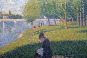 The Seamstress, Study for 'A Sunday Afternoon on the Island of La Grande Jatte', 1886 by Georges Seurat