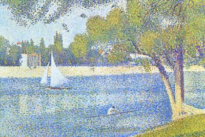 The Seine by the Island of Jatte in Spring by Georges Seurat