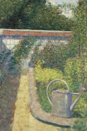 The Watering Can-Garden at Le Raincy, 1883 by Georges Seurat