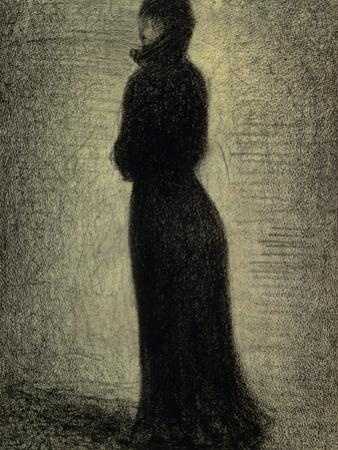 Woman in Black by Georges Seurat