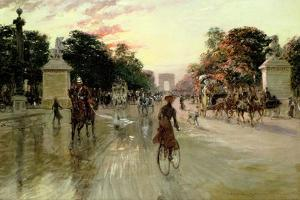 The Champs Elysees, Paris by Georges Stein