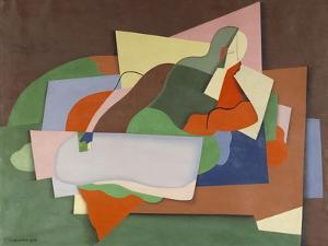 Reclining Nude; Nu Allonge by Georges Valmier