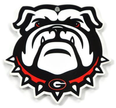 Georgia Bulldog Head Steel Magnet
