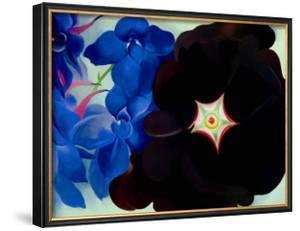 Black Hollyhock Blue Larkspur, 1930 by Georgia O'Keeffe