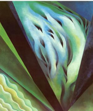 Blue Green Music by Georgia O'Keeffe
