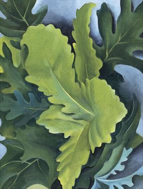 Green Oak Leaves, c.1923 by Georgia O'Keeffe