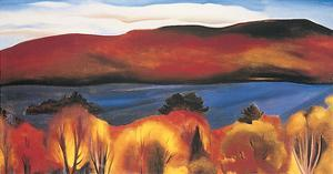 Lake George, Autumn, 1927 by Georgia O'Keeffe