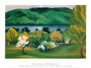 Lake George, Early Moonrise Spring, 1930 by Georgia O'Keeffe