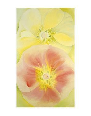 Pink and Yellow Hollyhocks, c.1952 by Georgia O'Keeffe