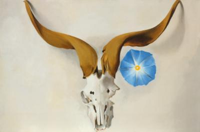 Ram's Head, Blue Morning Glory by Georgia O'Keeffe