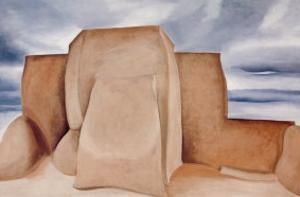 Ranchos Church, New Mexico by Georgia O'Keeffe