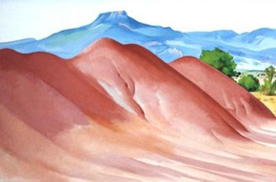 Red Hills & Pedernal by Georgia O'Keeffe