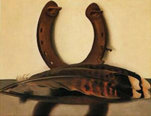 Turkey Feather with Horseshoe by Georgia O'Keeffe