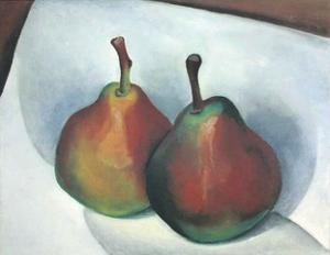 Two Pears by Georgia O'Keeffe