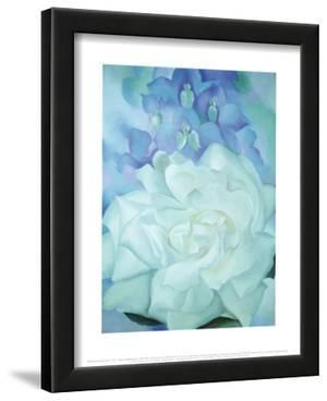 White Rose with Larkspur by Georgia O'Keeffe