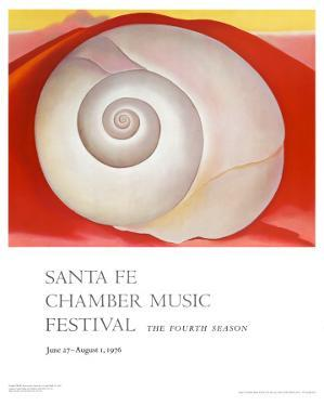 White Shell with Red by Georgia O'Keeffe