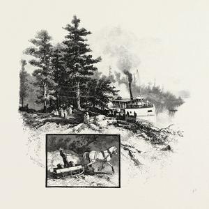 Georgian Bay and the Muskoka Lakes, at the Landing, Rosseau, Canada, Nineteenth Century