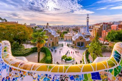 View of the City from Park Guell in Barcelona by Georgios Tsichlis
