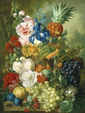 Rich Still Life of Summer Flowers by Georgius Jacobus J. van Os