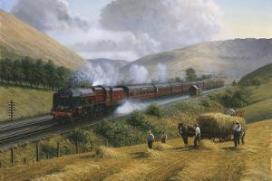 L.M.S. the Royal Scot, Tebay Troughs, 1935 by Gerald Broom