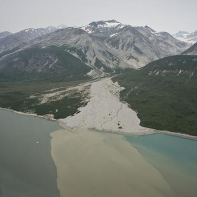 Glacial Alluvial Fan and Glacial Silt Runoff, Glacier Bay National Park, Alaska, USA by Gerald & Buff Corsi
