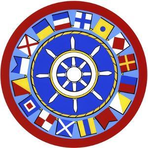 Nautical Flags Circle by Geraldine Aikman