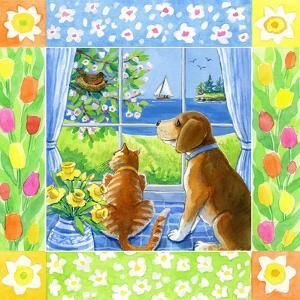 Spring Cat and Dog by Geraldine Aikman