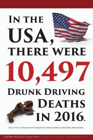 Drunk Driving Death Statistics (USA) by Gerard Aflague Collection