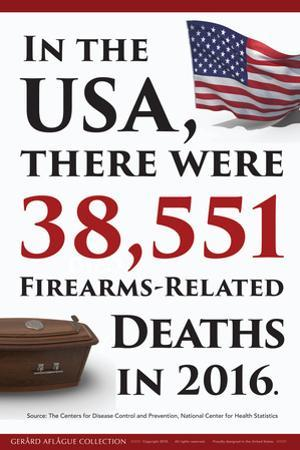 Firearms Deaths Statistics (USA) by Gerard Aflague Collection