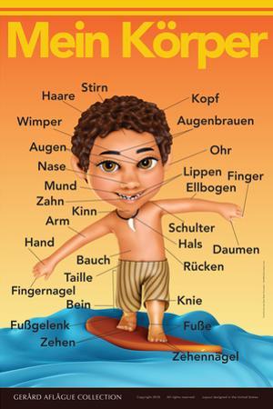 Mein Körper - My Body (Surfer Boy) in German by Gerard Aflague Collection