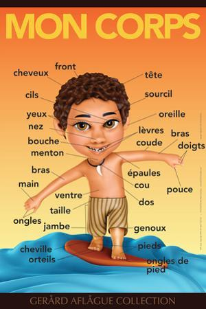 Mon Corps - My Body (Surfer Boy) in French by Gerard Aflague Collection