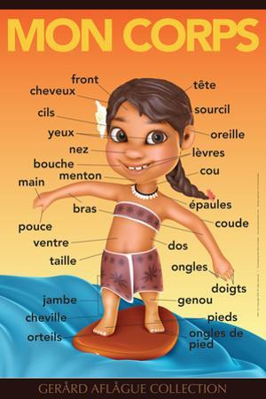 Mon Corps - My Body (Surfer Girl) in French by Gerard Aflague Collection