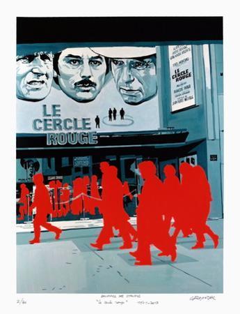 Boulevard des Italiens : le Cercle Rouge by Gérard Fromanger