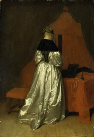 A Lady in White Satin by Gerard Terborch