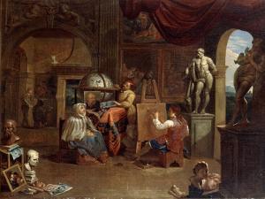 Artist studio scene, (1680-1720?).  Artist: Gerard Thomas by Gerard Thomas