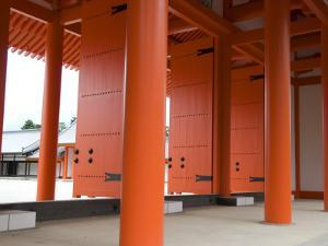 Entrance Doors to Internal Courtyard of Kyoto Imperial Palace (Kyoto Gosho) by Gerard Walker